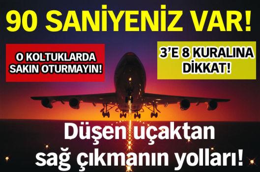 Ölümlü uçak kazalarını araştıran uzmanlar, düşen uçakta hayatta kalabilmenin yollarını açıkladı...