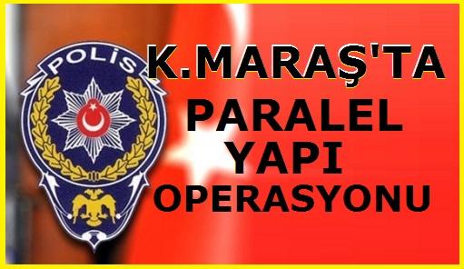 """Türkiye genelinde başlayan """"Paralel yapı"""" soruşturması çerçevesinde hakkında yakalama kararı çıkartılan ve İstanbul Emniyet Müdürlüğü'nde görevli olduğu öğrenilen polis memuru Ç.Ö., izinli geldiği Kahramanmaraş'ta bir akrabasının evinde sabaha karşı Terörle Mücadele Şube Müdürlüğü ekipleri tarafından gözaltına alınarak İl Emniyet Müdürlüğü'ne getirildi."""